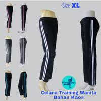 Celana Training/Senam Wanita Bahan Kaos Size XL