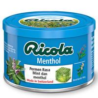 RICOLA MENTHOL SWISS HERB CANDY 100 GR / PERMEN RICOLA MENTHOL
