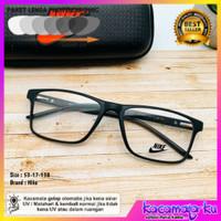 Frame Kacamata Pria Kotak Photocromic Anti Radiasi Sporty Minus N9906