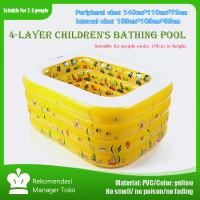 JKT READY100% Kolam renang anak bentuk persegi bahan ramah lingkungan - 140 * 95 * 70cm, Kuning