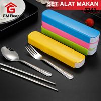 GM Bear Set Alat Makan Isi 3 psc 1241 - Cutlery Food Set