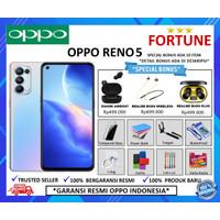 OPPO RENO 5 8/128GB GARANSI RESMI - STARRY BLACK, GIFT2 +ASURANSI