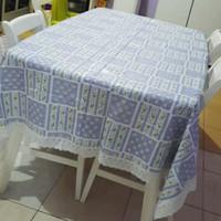 taplak meja makan plastik (meiwa/ tablecloth) - Ungu