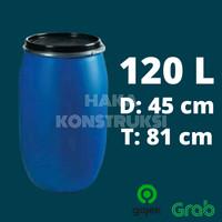 Drum Air Plastik 120 Liter Besar Tempat Sampah Ember Baskom HDPE Tebal
