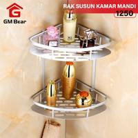 GM Bear Rak Sudut Kamar Mandi 2 Tingkat 1250 - Bathroom Two-Tier