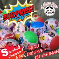 Telur plastik buka tutup 20 pcs / surprise egg ball