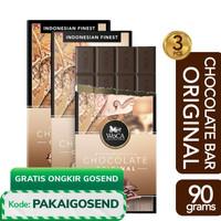 WoCA Premium Chocolate 3 x 90g Bars -- Cokelat Batang Rasa Original
