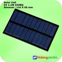 DIY Mesin Solar Panel Cell Tenaga Surya Powerbank 5V 1.1W 220MA