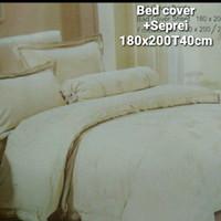 Bed cover full set Premium Bahan King koil King size 180x200xT40cm