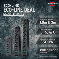 Brennenstuhl Eco-Line Bundle: Kabel Extension 3+6+8 Soket