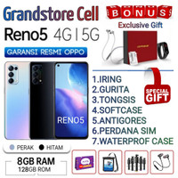 OPPO RENO 5 RAM 8/128 GB GARANSI RESMI OPPO INDONESIA