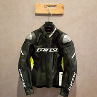 DAINESE RACING 3 LEATHER BLACK YELLOW