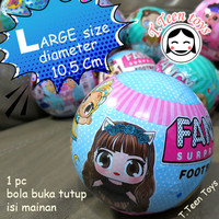 Telur plastik buka tutup 1 pc / surprise egg ball (Versi L)