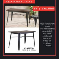 Meja Cafe atau Makan, Claretta