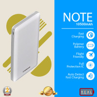 DelCell NOTE Power Bank Polimer Battre 10500mAh Real Capacity - White