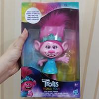 Boneka trolls world tour Pop music Poppy singing doll original SALE