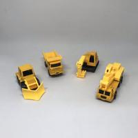 Mainan mobil-mobilan metal diecast kendaraan konstruksi (4 pcs)