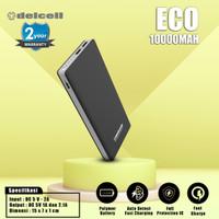 DelCell Eco Power Bank Polimer Battre 10000 mAh Real Capacity - Putih