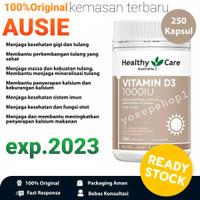 HEALTHY CARE 100%ORIGINAL AUSTRALIA VITAMIN D3 1000IU 250 CAPSULES