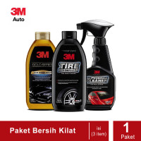 3M Paket Bersih Kilat (Car Wash Gold, All Purpose, Tire Restorer)