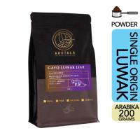ARUTALA Kopi Gayo Luwak Liar 100% Wild Civet Coffee 200 gram