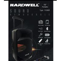 Portable hardwell BWR 15 inch original speaker free wireless terbaik