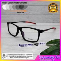 Kacamata minus pria gratis lensa photocromic sporty minus