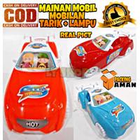PROMO Mainan Anak Mobil Mobilan Tarik + Lampu Fashion Sport Car Murah
