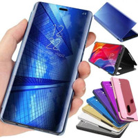 Flip Mirror S20 FE Samsung Sarung Case Clear View Stand Casing Cover