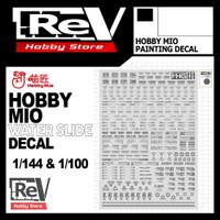 HOBBY MIO WATER DECAL GUNDAM 1/144 1/100