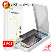2 buah Privacy Anti Spy Tempered Glass Anti Gores iPhone X XR XS Max - XR