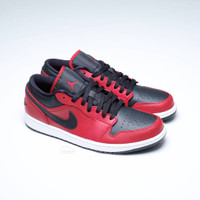 Nike Air Jordan 1 Low Banned Bred / Black Red (100% Authentic) - 45