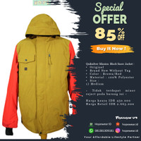Original BNWOT Quiksilver Mission Block Snow Jacket - Brown/Red - Cokelat Muda, M