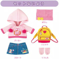 pakaian set Mell Chan Outdoor Jacket Mainan Anak Perempuan Original