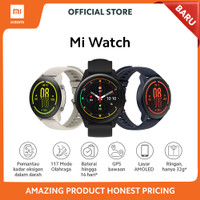 Xiaomi Official Mi Watch Fitness Smartwatch Miwatch Garansi Resmi - Hitam