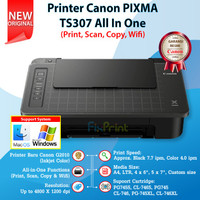 Printer Canon TS307 TS 307 Print Scan Copy WiFi Cartridge 745s 746s