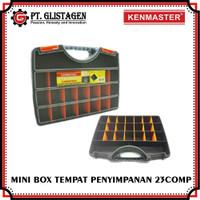 Tool Box Mini With Handle 23 Compartments Koper Plastik Kotak Mur Baut