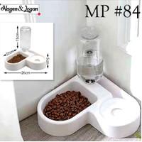 Tempat Makan Minum Kucing Anjing Hewan Feeder & Water Dispenser Corner