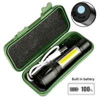 TaffLED Albinaly Senter LED USB Rechargeable Q5 + COB 2300 Lumens