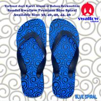 SANDAL SWALLOW PREMIUM BLUE SPIRAL - BIRU