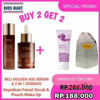 Kosmetik YOU Golden Age 2 in 1 Essence/Serum Wajah 100ml - Essence
