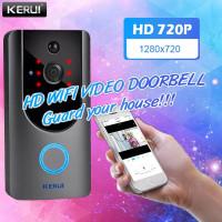 KERUI Bel Rumah wifi Wireless smart video Door Phone Bell Interkom 720