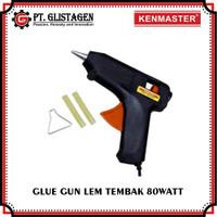 Glue Gun Alat Lem Tembak Cepat Panas 80 Watt Bonus isi Lem Tembak 2Pcs
