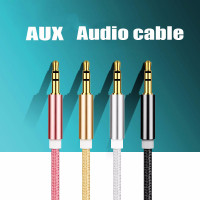 HiFi Gold Plated Nylon Aux Audio Beats Cable 3.5mm Stereo Jack Plug