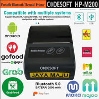 MINI MOBILE PRINTER BLUETOOTH THERMAL 58mm CODESOFT HPM-200 - ANDROID