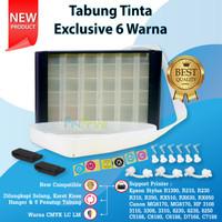 Tabung Tinta 6 Warna 100ml Box Hitam Printer Epson 1390 T60 R230 R1390
