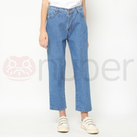 Celana Panjang Jeans Boyfriend Blue Non Stretch - Fireweed
