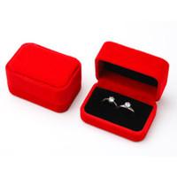 Kotak Box Tempat Cincin isi 2 Couple Bludru Lamaran Nikah Seserahan