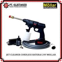 Jet Cleaner Cordless Baterai 24Volt Mesin Cuci Motor Mobil AC Portable