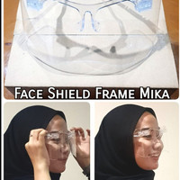 Face shield kacamata bahan akrilik face shield artis new code - 005